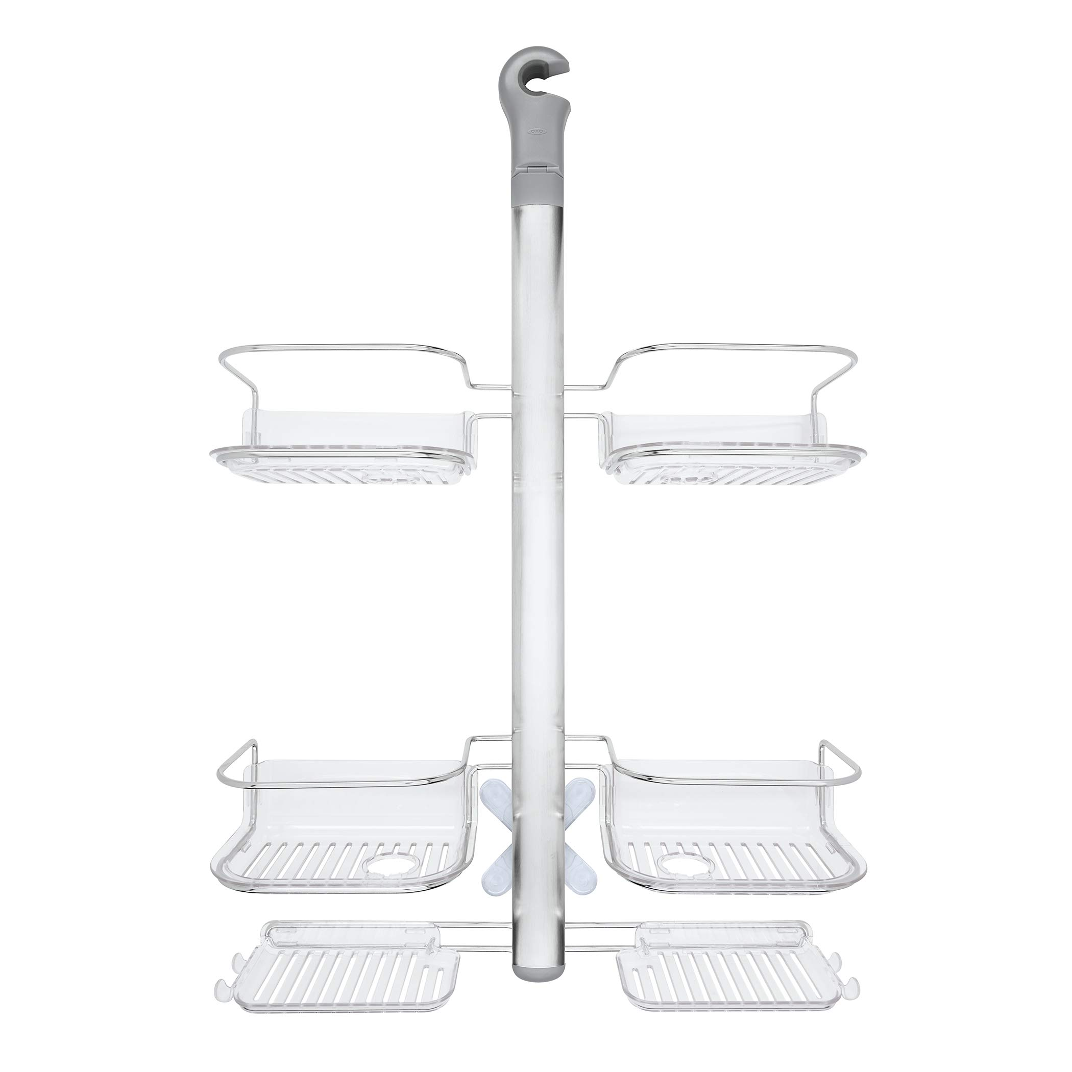 OXO Good Grips Stainless Steel Shower Caddy with Hose Keeper for Handheld Shower Heads by OXO