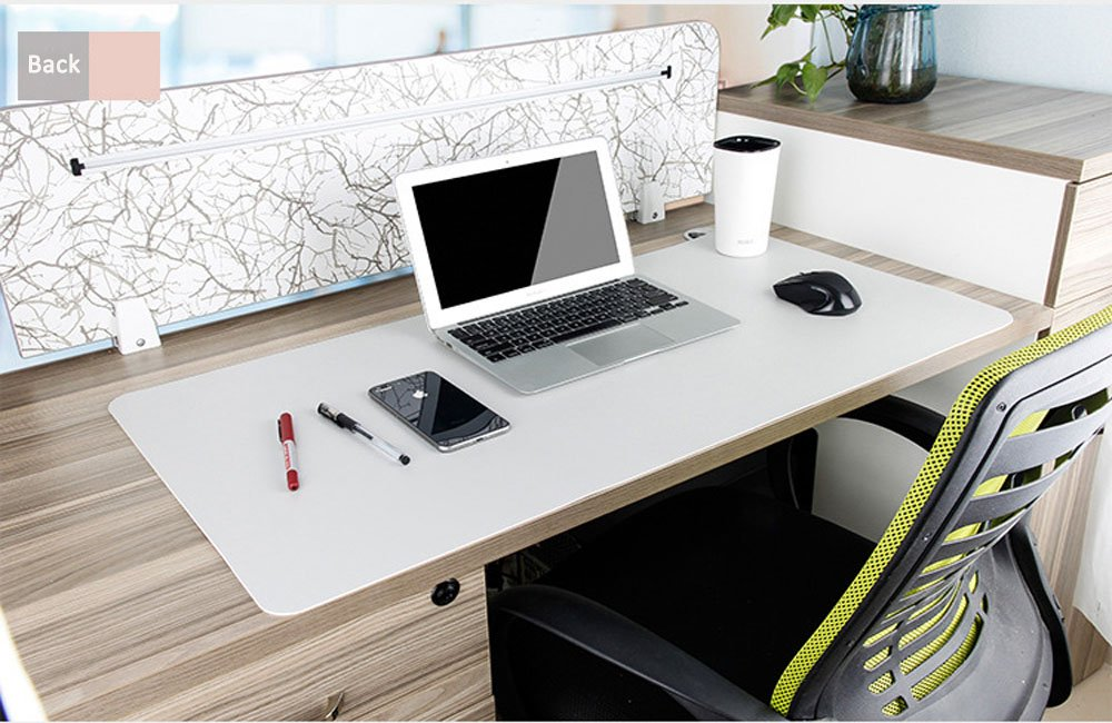 Desk Pad Protecter, Mirstan 31.5'' x 15.8'' PU Leather Large Office Desk Writing Mat Mousepad Waterproof, Dual Sides for Use (Pink&Gray) by Mirstan (Image #7)
