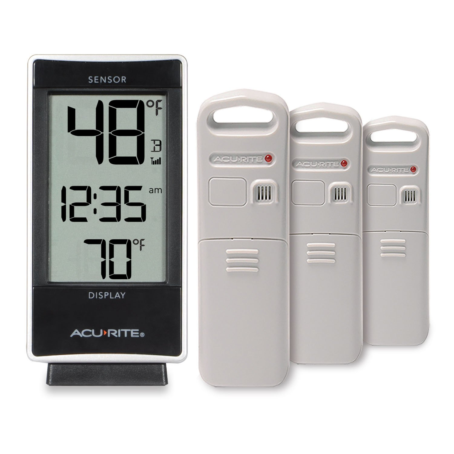 AcuRite 01090M Multi-Sensor Thermometer with 3 Indoor/Outdoor Temperature Sensors