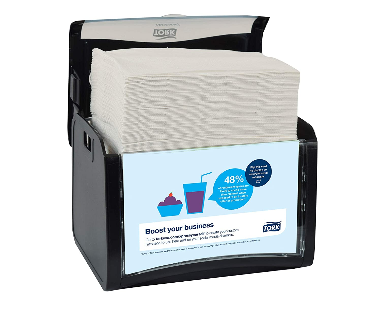Amazon.com: Tork 6232000 Xpressnap Tabletop Napkin Dispenser, 6.1