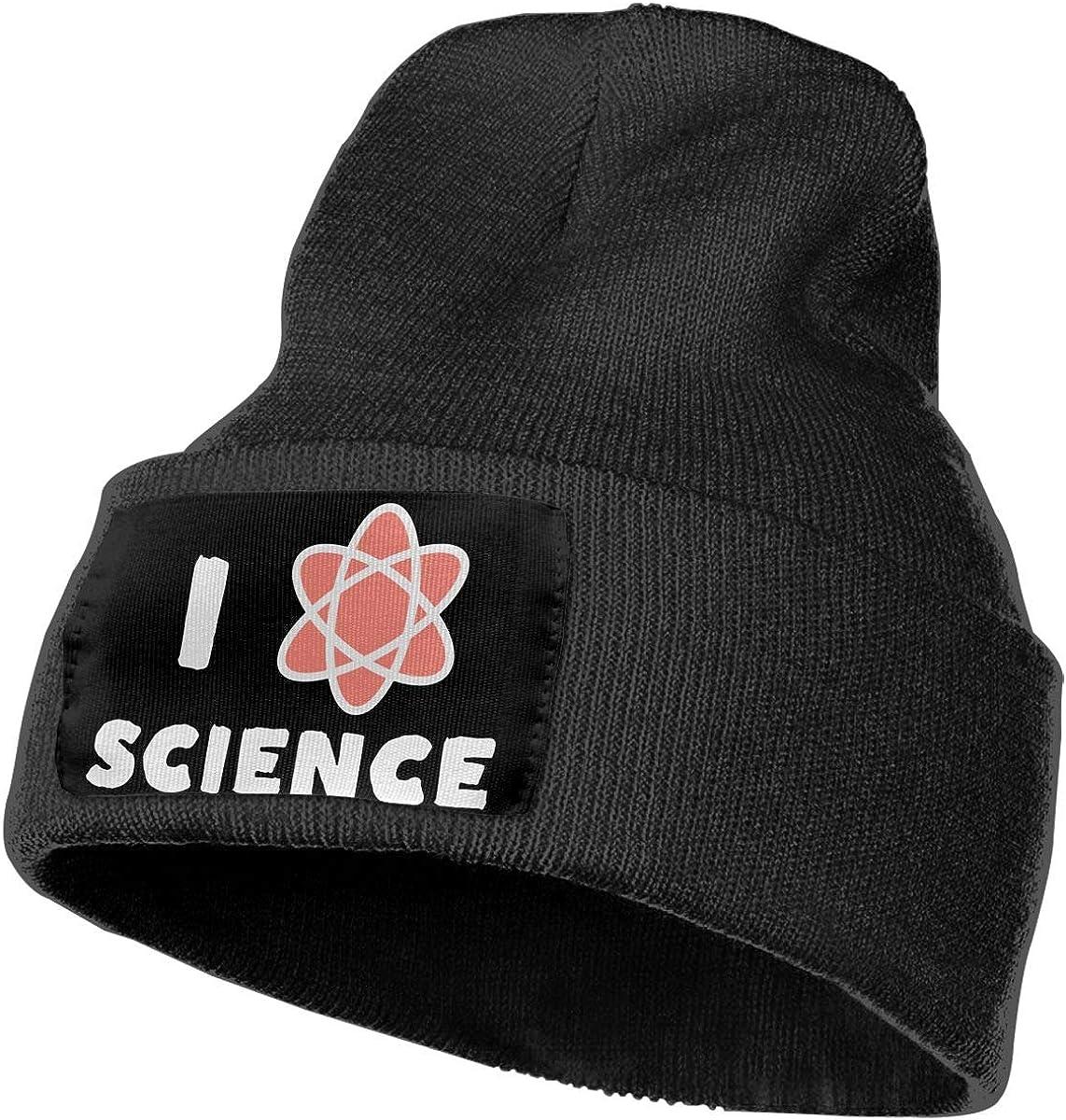 100/% Acrylic Skull Cap MXMAOM9MX I Heart Science Warm Knitting Hat Mens Womens