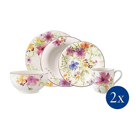 Villeroy & Boch Mariefleur Basic Juego De Mesa Para Dos, Porcelana ...