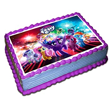 My Little Pony Cake Topper Icing Sugar Paper 85 X 115 Inches Sheet Edible Frosting Photo