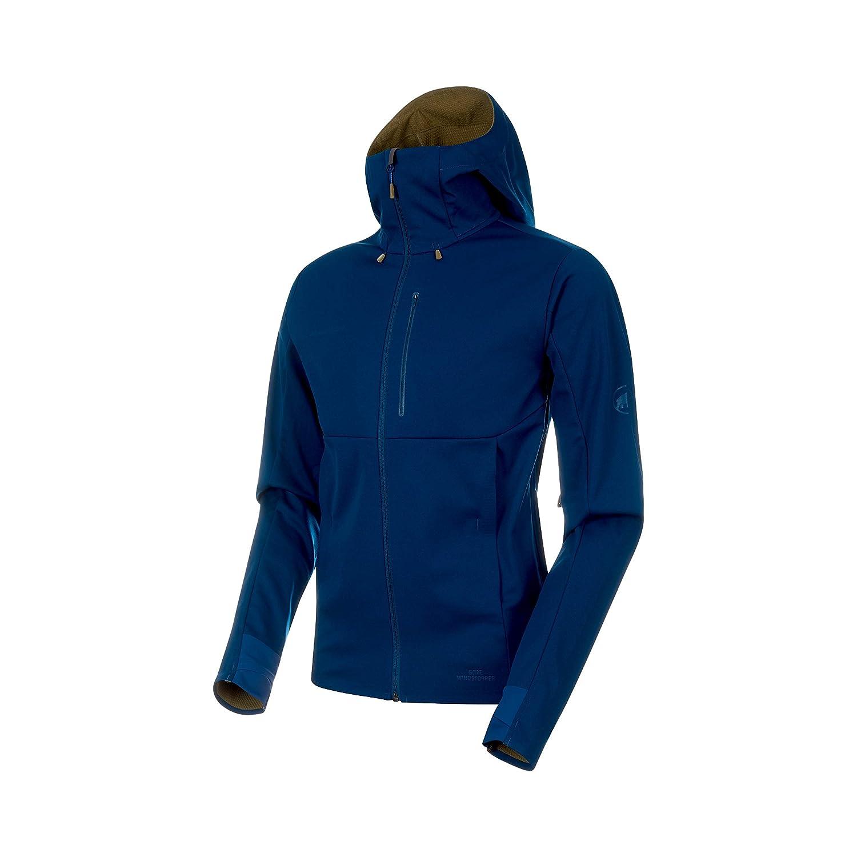 Poseidon-Olive Melange L Mammut Men's Ultimate V Softshell Jackets