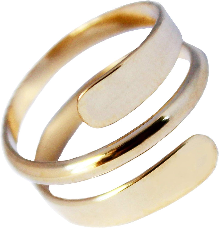 Toe Ring | 14K Gold Filled Yoga Wrap | Adjustable Ring for Toe or Midi | for Men or Women