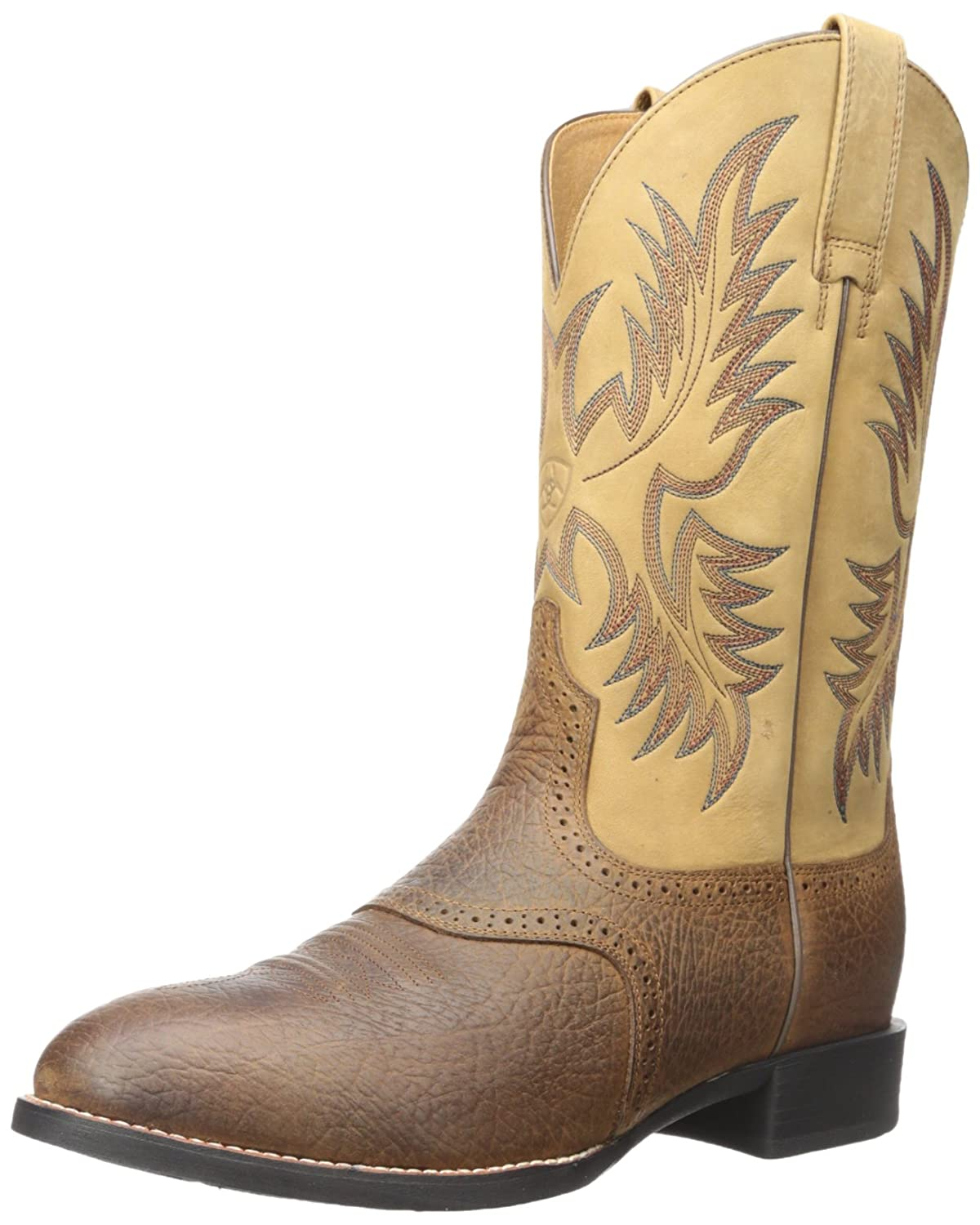 Ariat Men's Heritage Stockman Western Boot B001FY4ARE 10.5 E US|Tumbled Brown/Beige