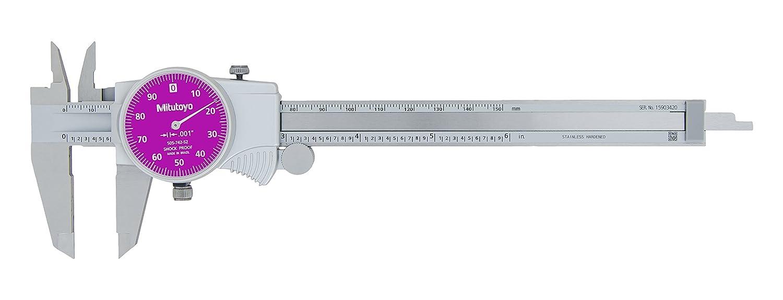 "0-6/"" Range 0.1/"" per Rev Mitutoyo 505-742 Dial Caliper D6/""TX 0.001/"" Accuracy"