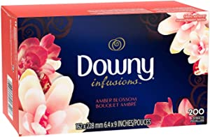 Downy Infusions Dryer Sheets, 200 Count, Amber Blossom