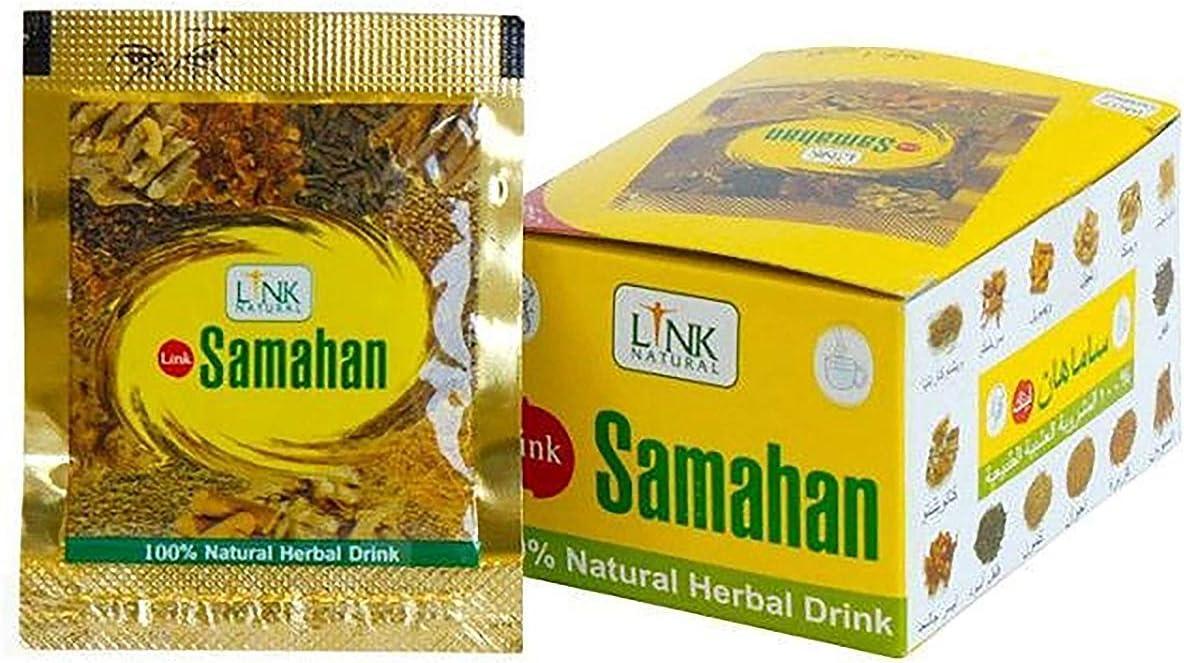 Samahan Link Natural Ayurvedic Herbal Tea 100% Natural Drink packet x 100