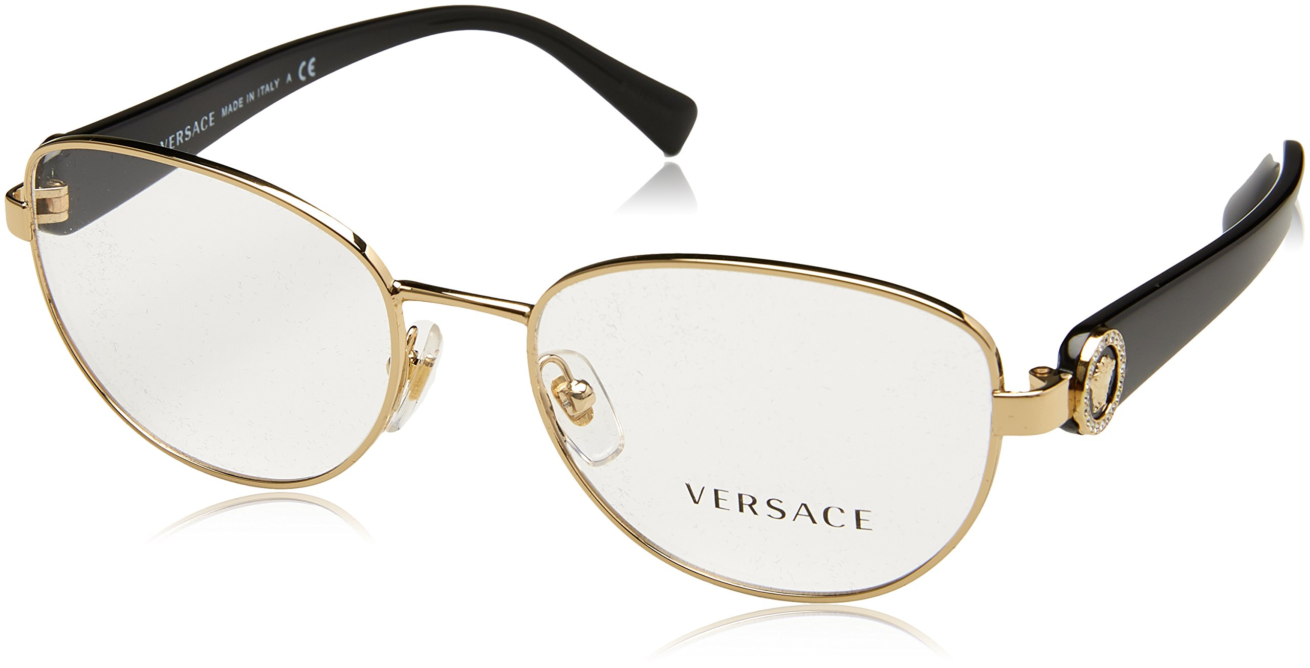 Versace VE1246B Eyeglass Frames 1332-52 - Pale Gold VE1246B-1332-52