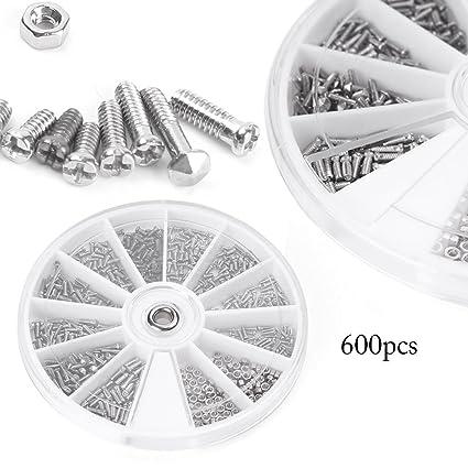 Amazon com: Beautylady 600pcs 12 Kinds Small Screw Nuts Assortment