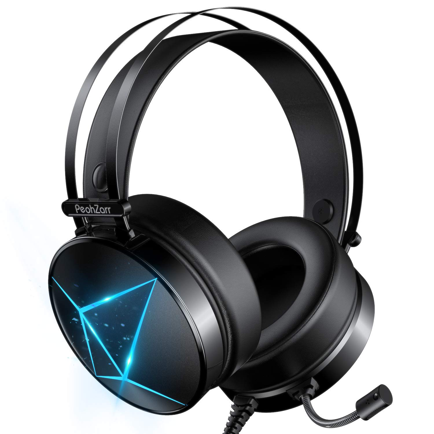 PeohZarr Gaming Headset One Headset PS4 Headset with 7.1 Surround Sound PC Headset with Mic & Light, Over Ear Headphones…