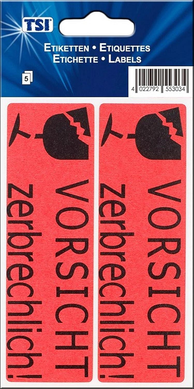 100 50 Blatt 10x 10 Etiketten//AufkleberVORSICHT zerbrechlich