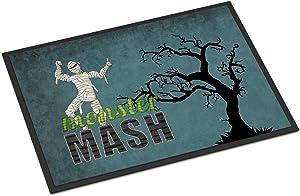 Caroline's Treasures SB3019MAT Monster Mash with Mummy Halloween Indoor or Outdoor Mat 18x27 Doormat, 18H X 27W, Multicolor