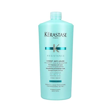Kerastase Resistance Ciment Anti-Usure Strengthening Anti-Breakage Cream – Rinse Out For Damaged Lengths Ends 1000ml 34oz