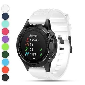 Feskio - Correa de reloj para Garmin Fenix 5 Multisport GPS, 22 mm ...