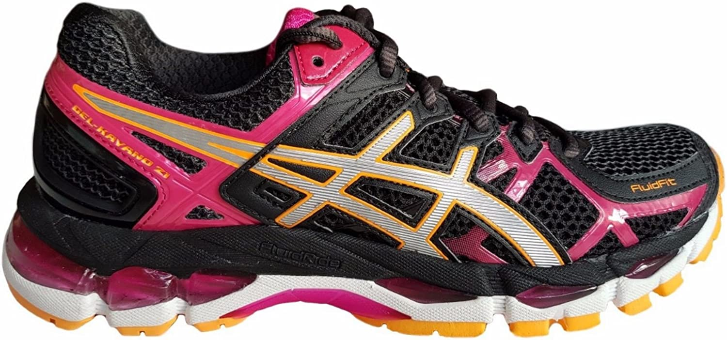 Asics Gel Kayano 21 (2A-Narrow fit) T4J5N 9091 Womens Running Trainers Black/Raspberry, UK 4/ EU 37: Amazon.es: Zapatos y complementos