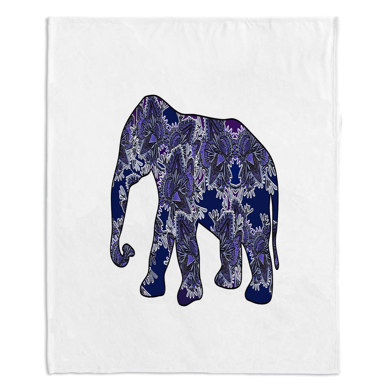 ブランケットウルトラソフトFuzzy 4サイズダイアノウチェデザインズホーム装飾寝室ソファまたはスローブランケットbyスージーKUNZELMAN – Elephant 5 Large 80
