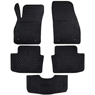 Ucaskin Car Floor Mats Custom Fit for Chevrolet Chevy Malibu 2016 2015 2014 2013 Odorless Washable Rubber Foot Carpet Heavy Duty Anti-Slip All Weather Protection Car Floor Liner-Black: Automotive