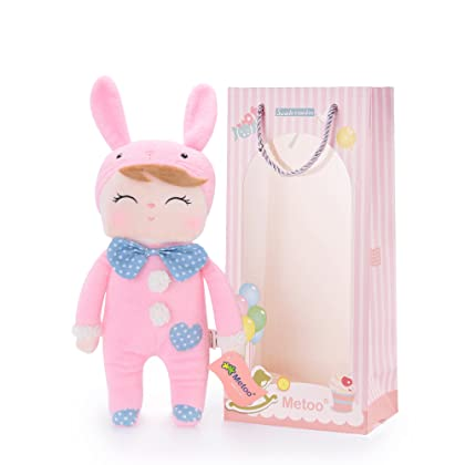 Amazon cambodia shopping on amazon ship to cambodia ship me too angela smiling bunny stuffed rabbit dolls toys easter gifts decorations pink 12 negle Images