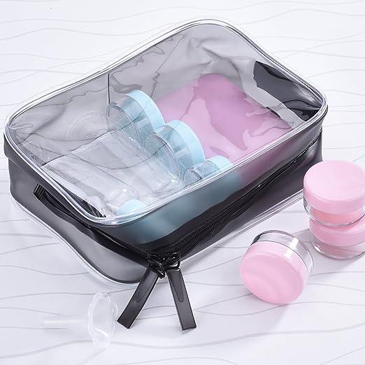 Amazon.com: Pangda - 5 bolsas de aseo con cremallera de PVC ...