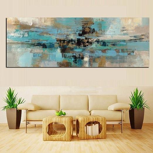 Xiaoxinyuan Toile D Impression Hd Bleu Clair Peinture