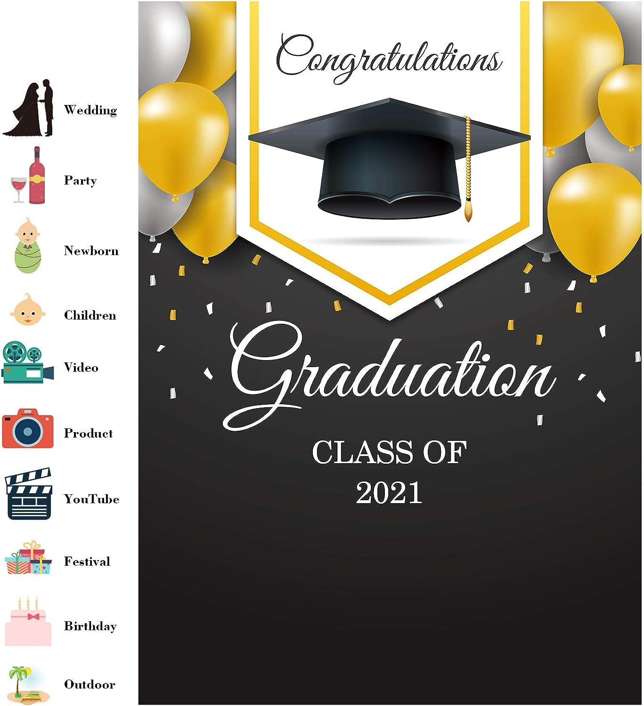 LB Graduation Ceremony Backdrop for Photography 6x6ft Red Carpet Backdrop Congrats Grad Graduation Party Cap Design Photo Background Customized Photoshoot Studio Props MH1223
