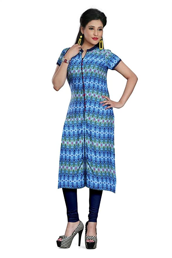 fe21d85413 Angel Fashion Fancy Collection Cotton Kurtis 04 Multi Color Cotton Cambric  Fabric Printed Kurti: Amazon.in: Clothing & Accessories