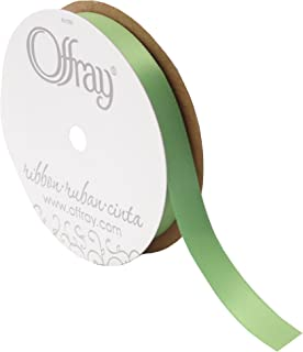 "product image for Offray Double Face Satin Ribbon, 5/8"" Wide, 20 Yards, Kiwi"