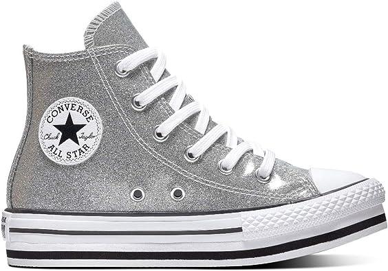 converse all star platform argento