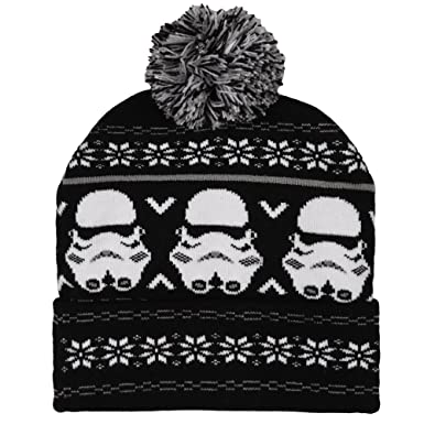 Amazon.com: Bioworld Star Wars Storm Trooper Fair Isle Pom Beanie ...