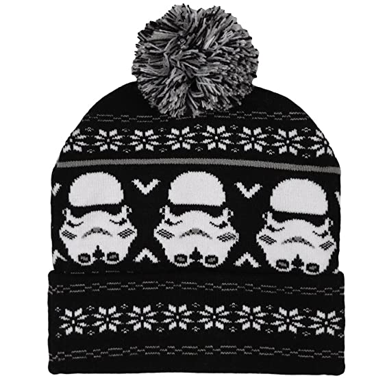 Amazon.com: Star Wars Storm Trooper Fair Isle Pom Beanie: Clothing