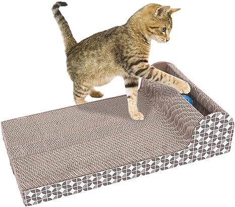 Xpccj Gato rascador cartón, Mascota Gato Juguete scrath Grande ...
