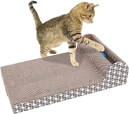 LNIMIKIY Rascador de Gatos, cartón, para Gatos, rascadores de Gatos, Placa Grande reciclable, Horizontal, Corrugado, para sofá o Cama, Juguete de cartón para Gatos, Garras y arañazos: Amazon.es: Productos para mascotas