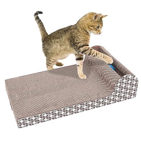 LNIMIKIY Rascador de Gatos, cartón, para Gatos, rascadores de ...