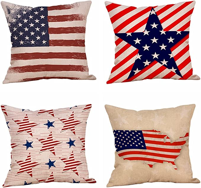 Independence Day pillow patriotic pillow American flag pillow Liberty pillow Fourth of July pillow Land of the free pillow