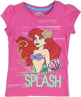 Disney Ariel The Little Mermaid Toddler Little Girls Make a Splash T-Shirt (2T, Pink)