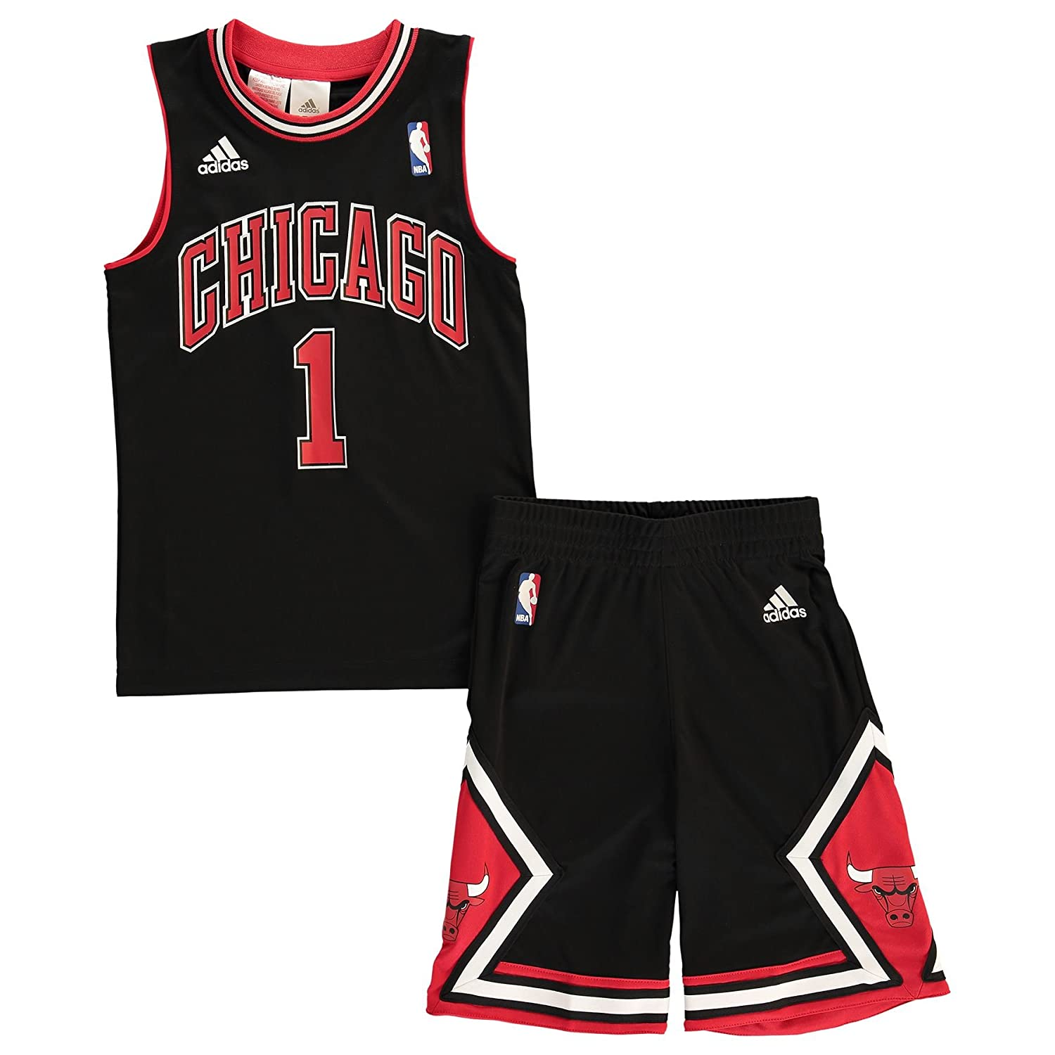 Conjunto Basketball Adidas NBA Mini-Kit Chicago Bulls Derrick Rose nº1 Para Niño / Adolescente: Amazon.es: Hogar