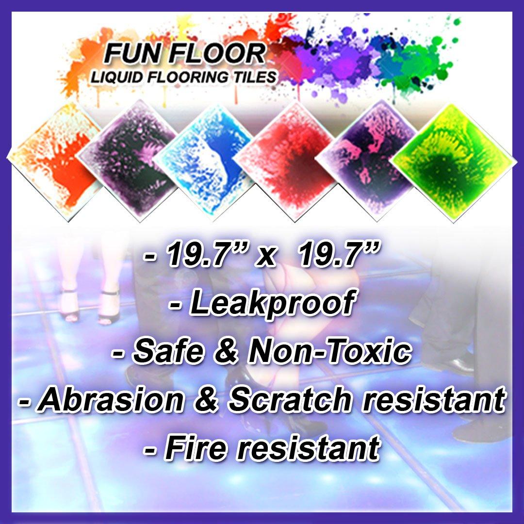 Liquid Encased Motion Lava Floor Tile Dance Floor Play Mats Kids