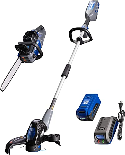 Westinghouse 40V Cordless Chainsaw and String Trimmer, 2.0 Ah Battery and Charger Included