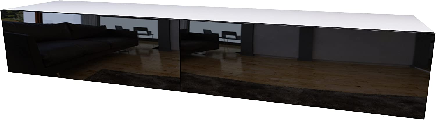 Domadeco 180 tv stand/contemporary tv units/tv entertainment center Color white and black