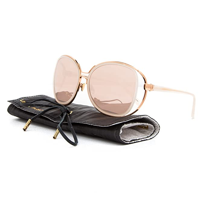2fde66994bb Linda Farrow Luxe LFL 166 Sunglasses C15 Rose Gold Pale Pink   Rose Gold  Mirror  Linda Farrow  Amazon.ca  Clothing   Accessories