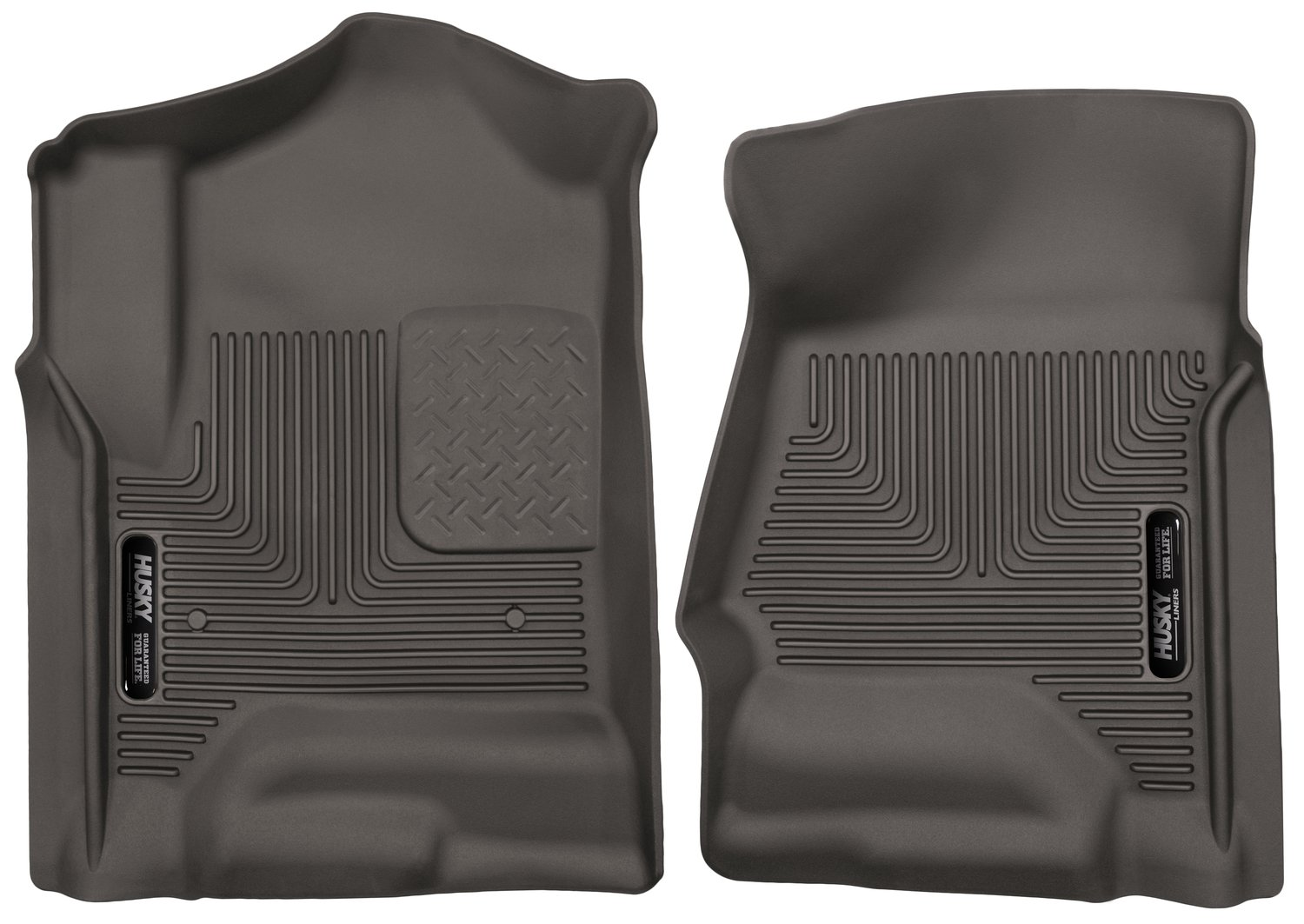 Husky Liners 53110 Cocoa Front Floor Liners Fits 14-18, 2019 Legacy/Sierra 1500, 15-19 Chevrolet Silverado 2500/3500, 2 Pack