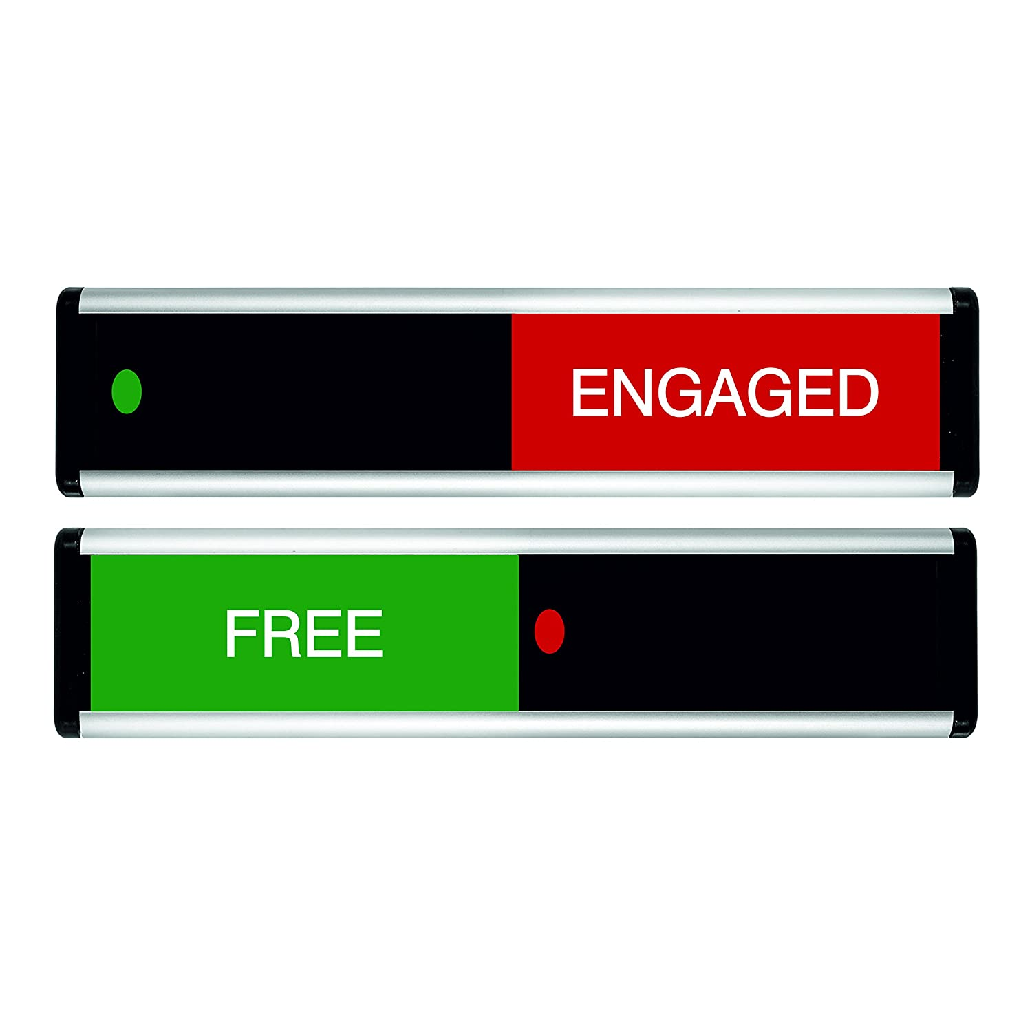 214 x 60mm Green // Red Edition Viro Free//Engaged Sliding Door Sign