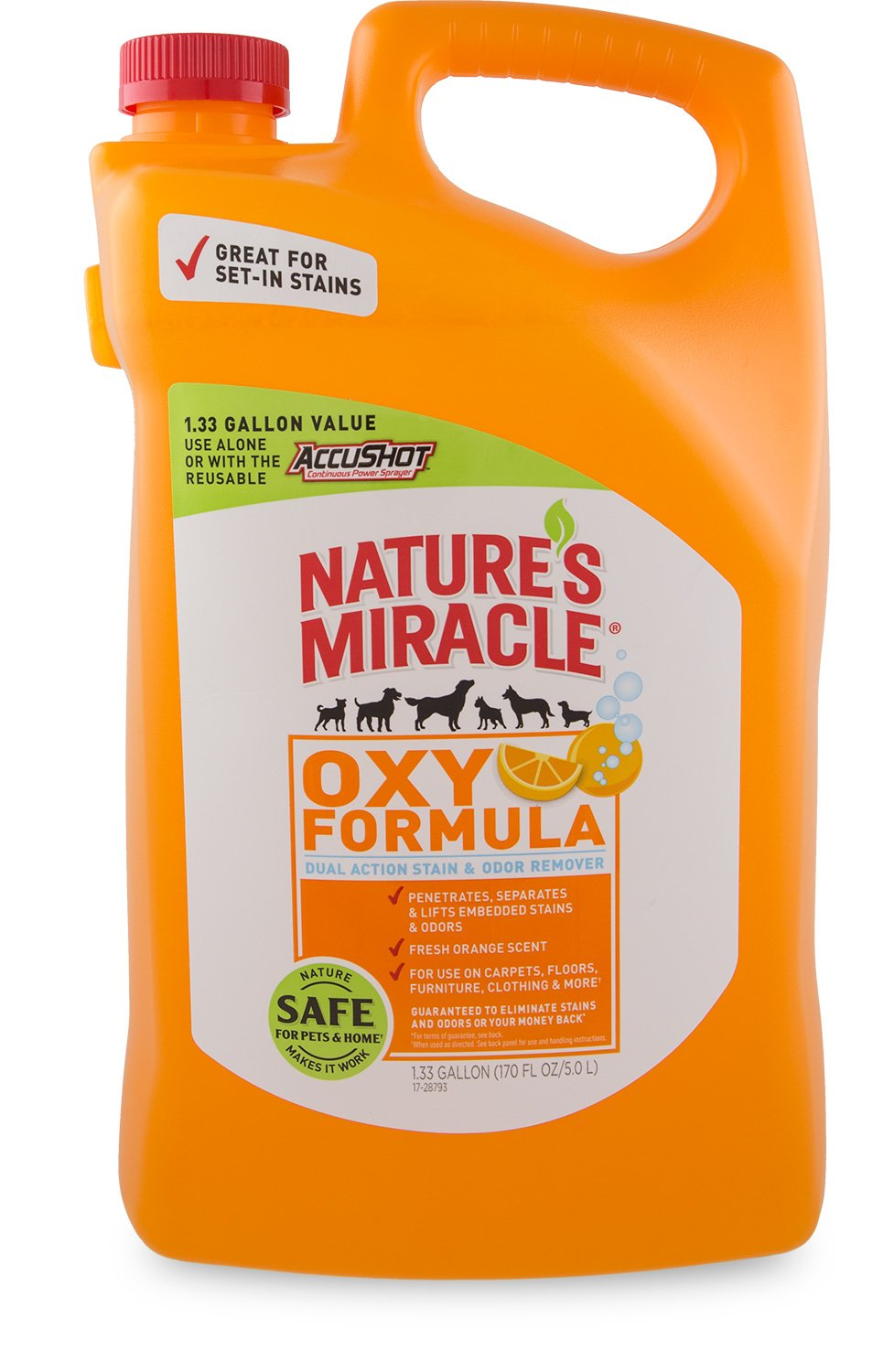 Nature's Miracle Oxy Pet Stain & Odor Remover, 1.33 gallon (P-96931)