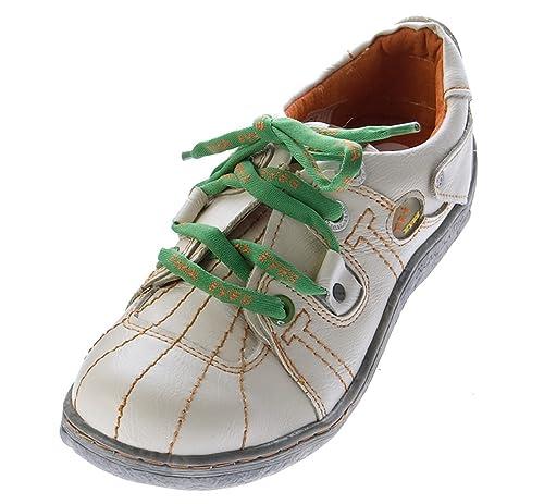 f2f70508e2b261 Comfort Leder Schuhe Damen Schuhe Schwarz Weiß Grün Schnürer Sneakers Sport  Halbschuhe Turnschuhe  Amazon.de  Schuhe   Handtaschen