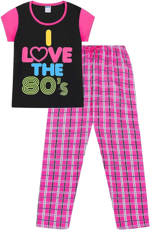 Pigiama lungo da donna in cotone I Love The 80s