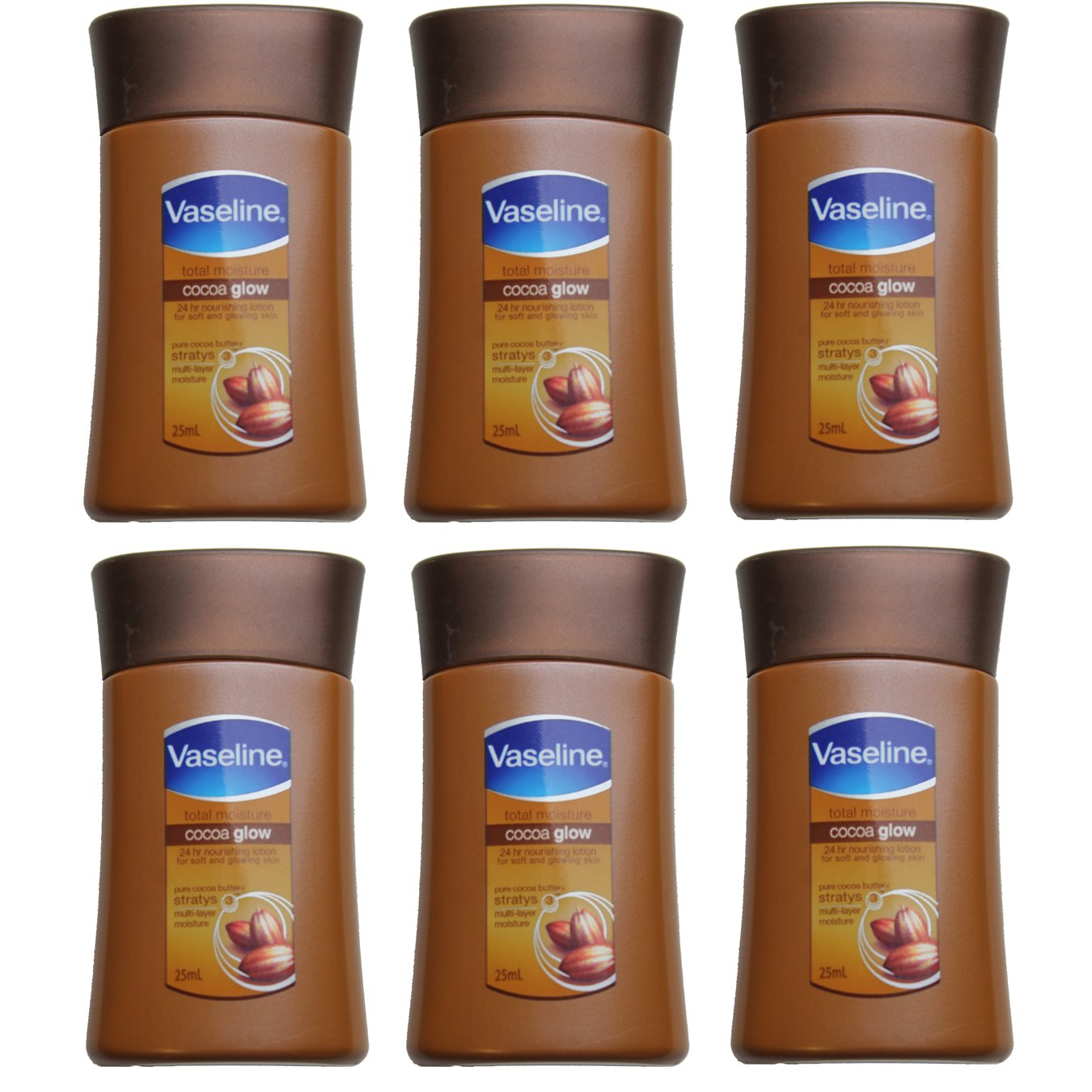 Vaseline Travel Size Cocoa Butter Lotion (Pack 6)