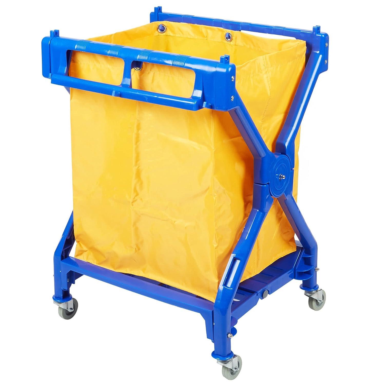 商業ランドリー/ Trashカート、折り畳みRolling、10ブッシェル B0765ZYG2J