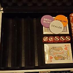 Amazon Com Homwom Casino Poker Chip Set 0pcs Poker Chips With Aluminum Case 11 5 Gram Chips For Texas Holdem Blackjack Gambling Sports Outdoors